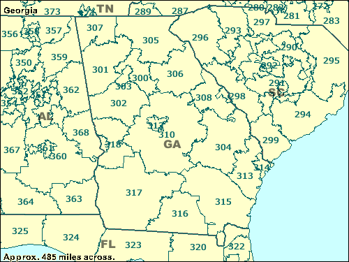 Zip Code Map Of Georgia.Trucksess Com Zcta Maps 300 399