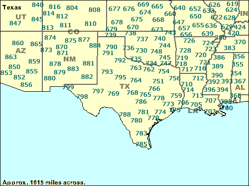 Map Of Texas Zip Codes.Trucksess Com Zcta Maps 700 799