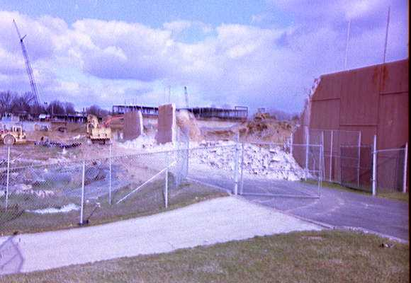 Ridley High School construction - SW rubble